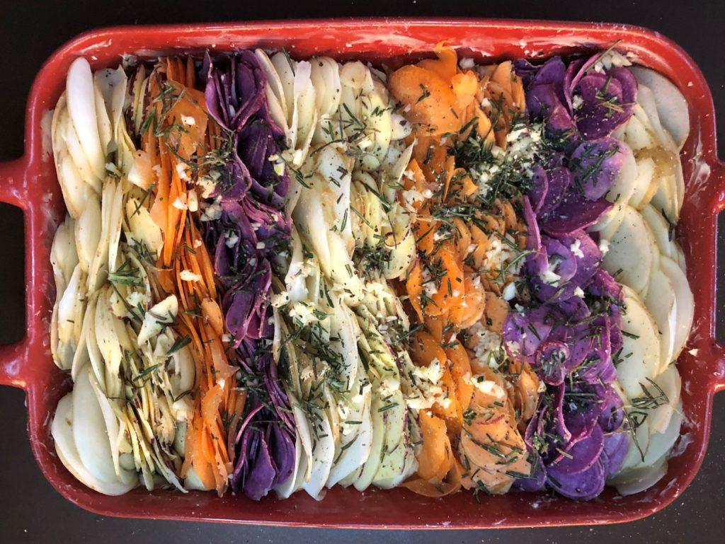 根菜のグラタン