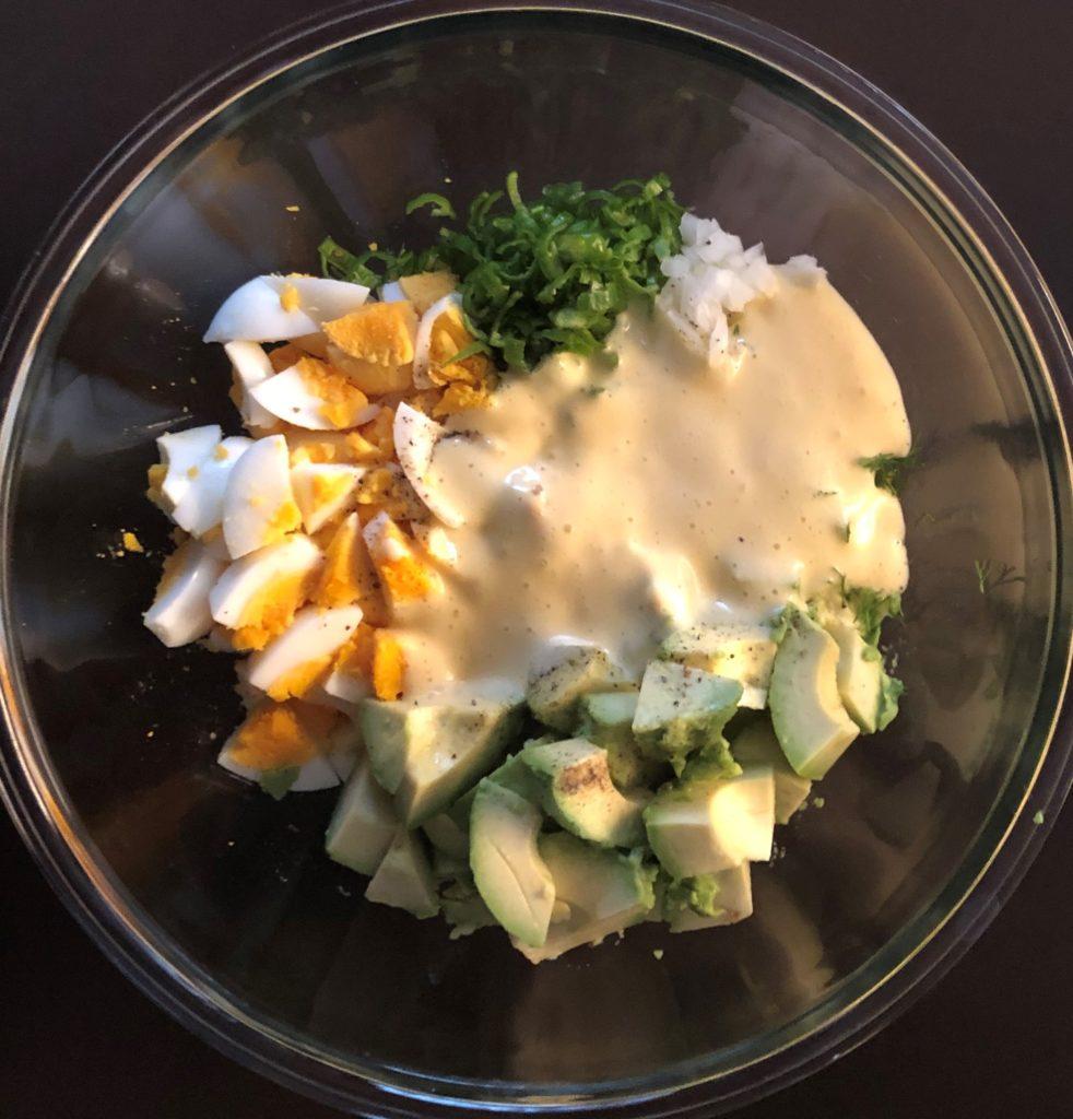 アボカドエッグサラダ