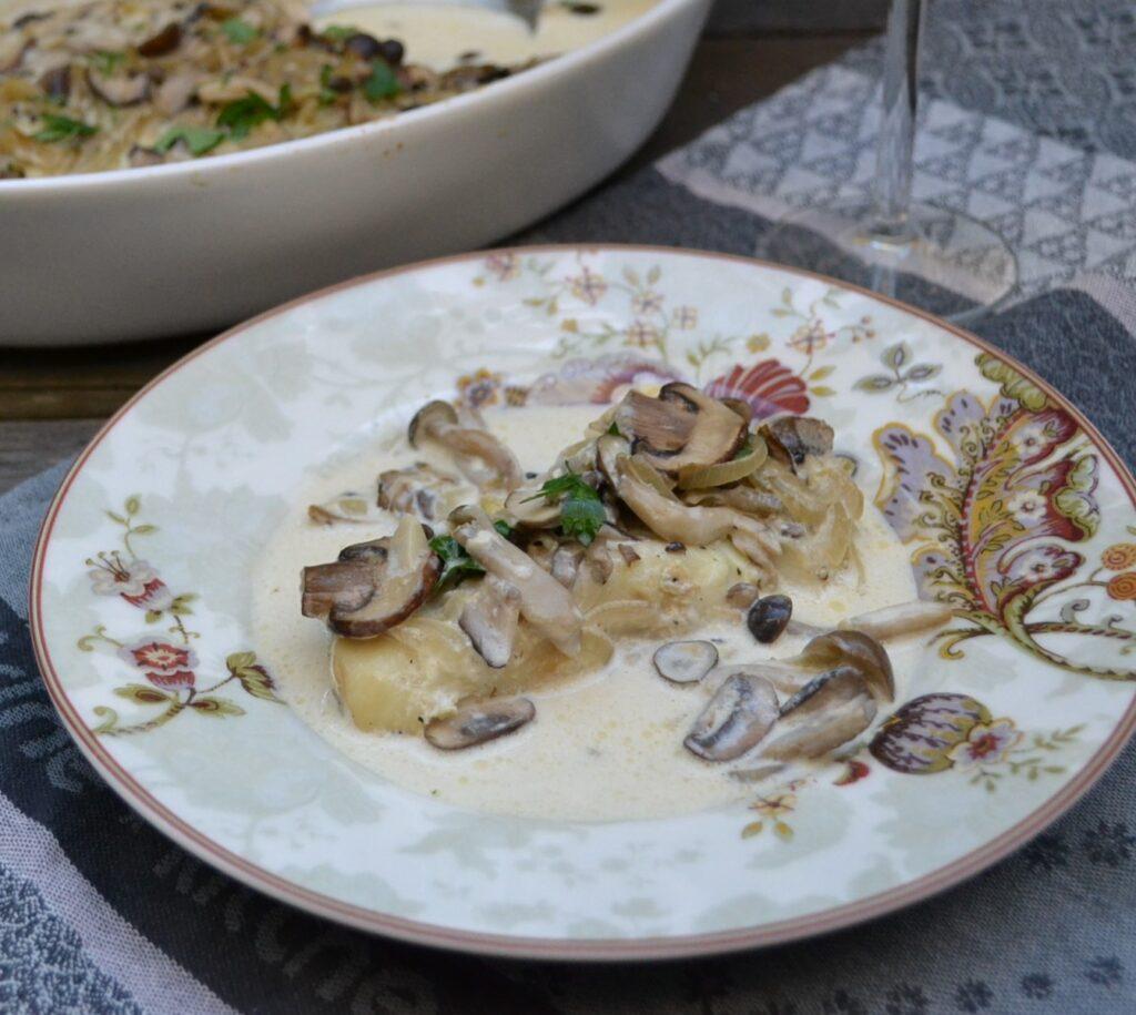 鱈の茸のオーブン焼き