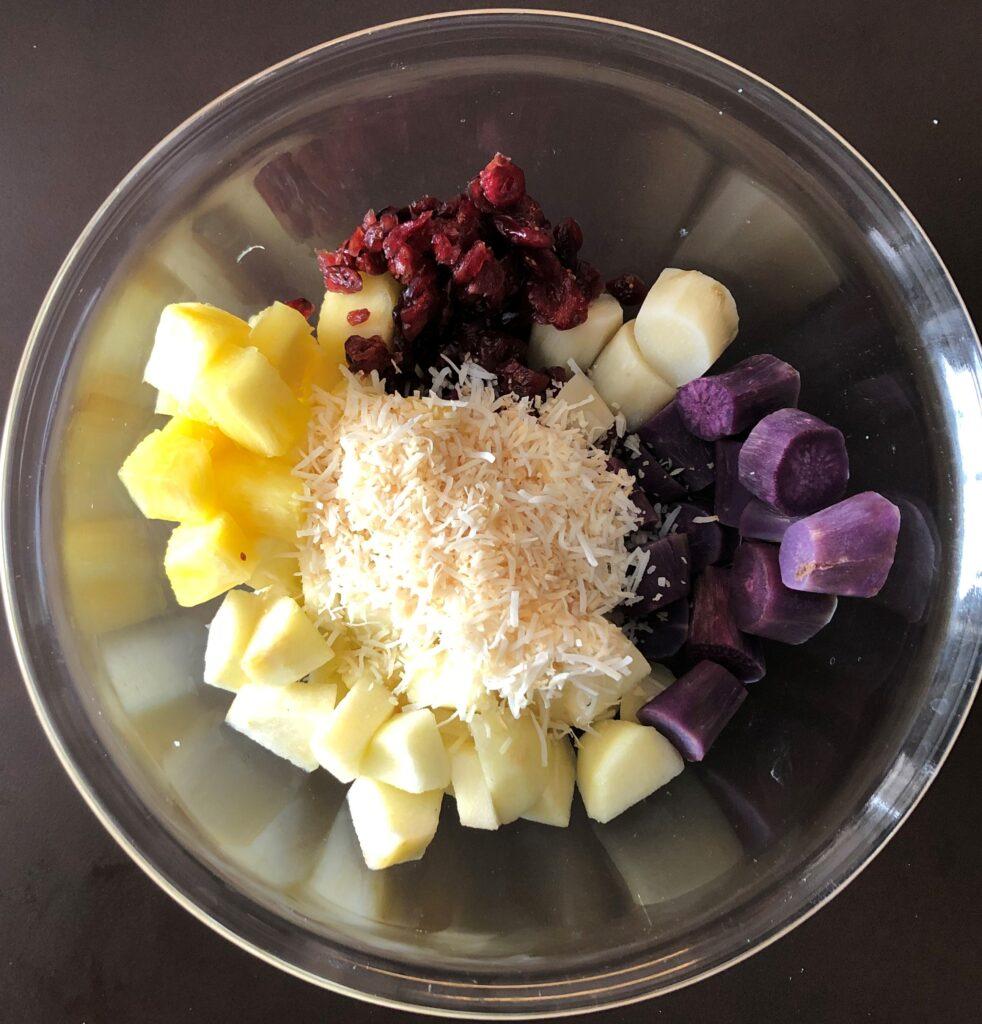 さつま芋とフルーツのサラダ