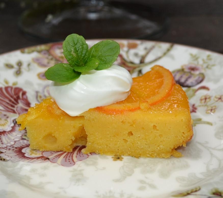 オレンジコーンミールケーキ