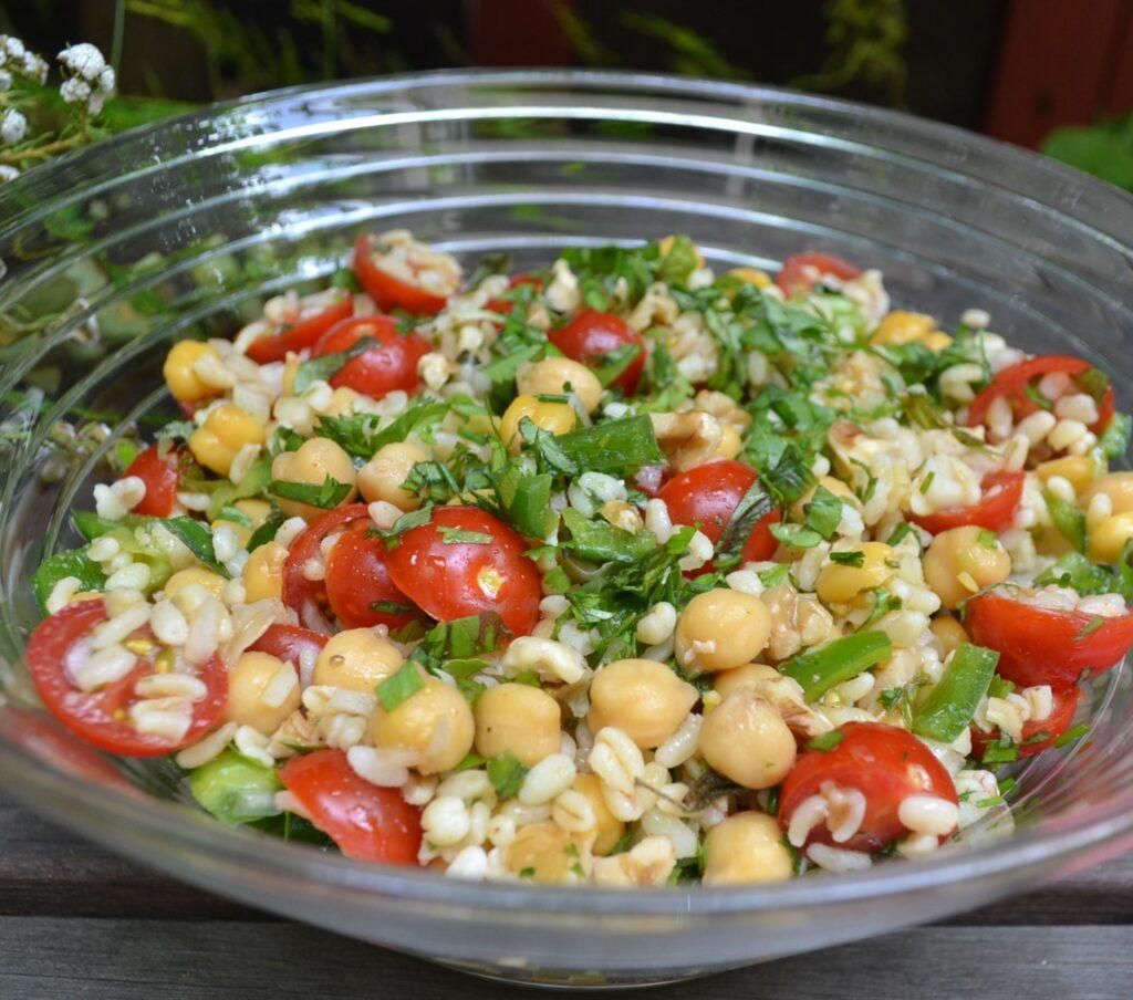 ひよこ豆とブルグルのサラダ