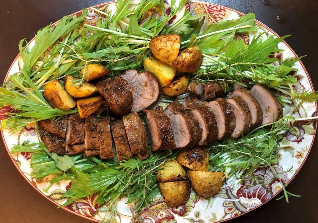 豚ヒレ肉のローストハニーガーリック風味