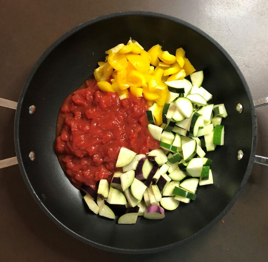 夏野菜のワンポットパスタ