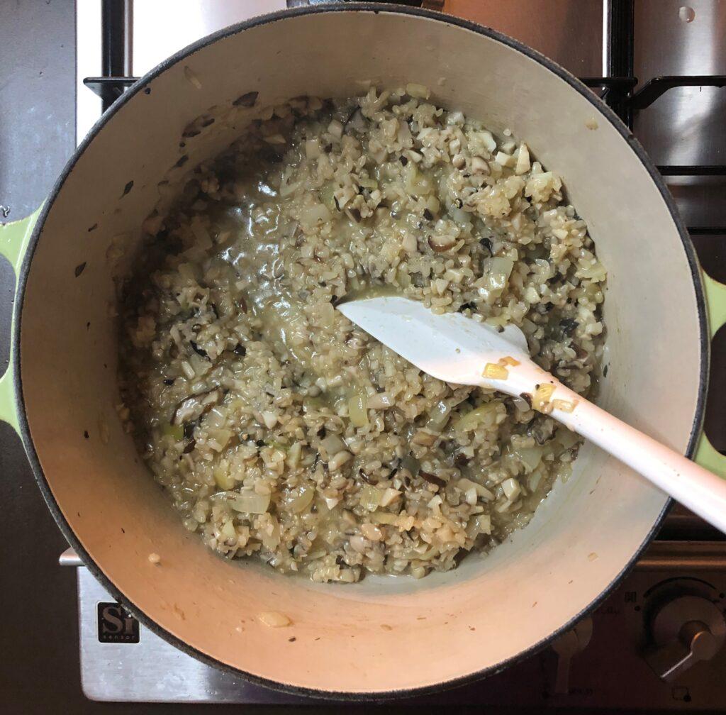 茸の玄米リゾット
