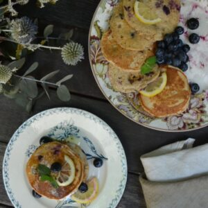 レモンとブルーベリーのパンケーキ