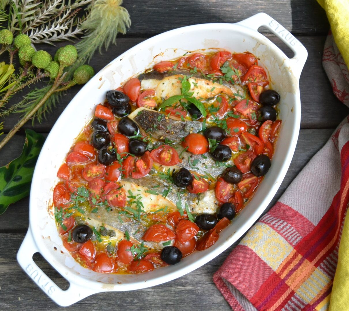 地中海風鱈のオーブン焼き