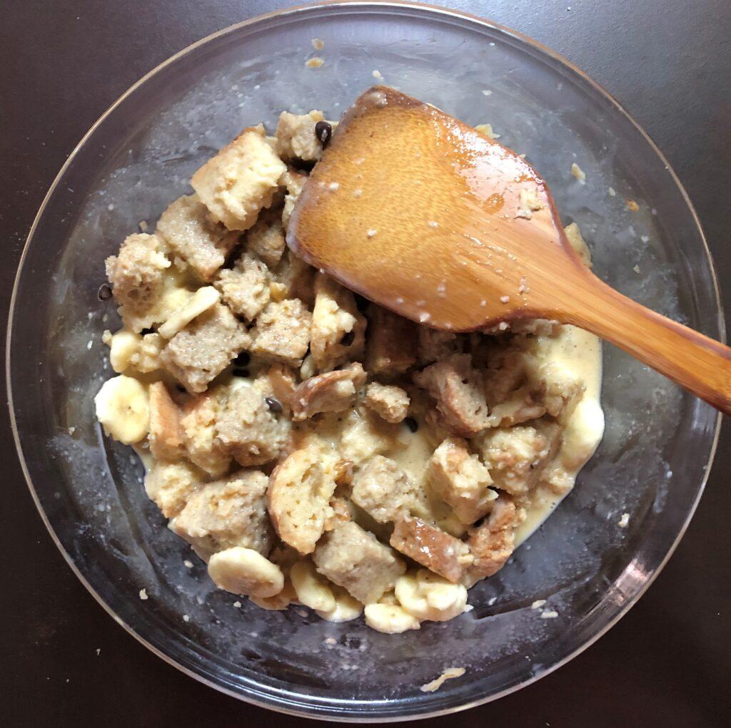 チョコレートバナナブレッドプッディング
