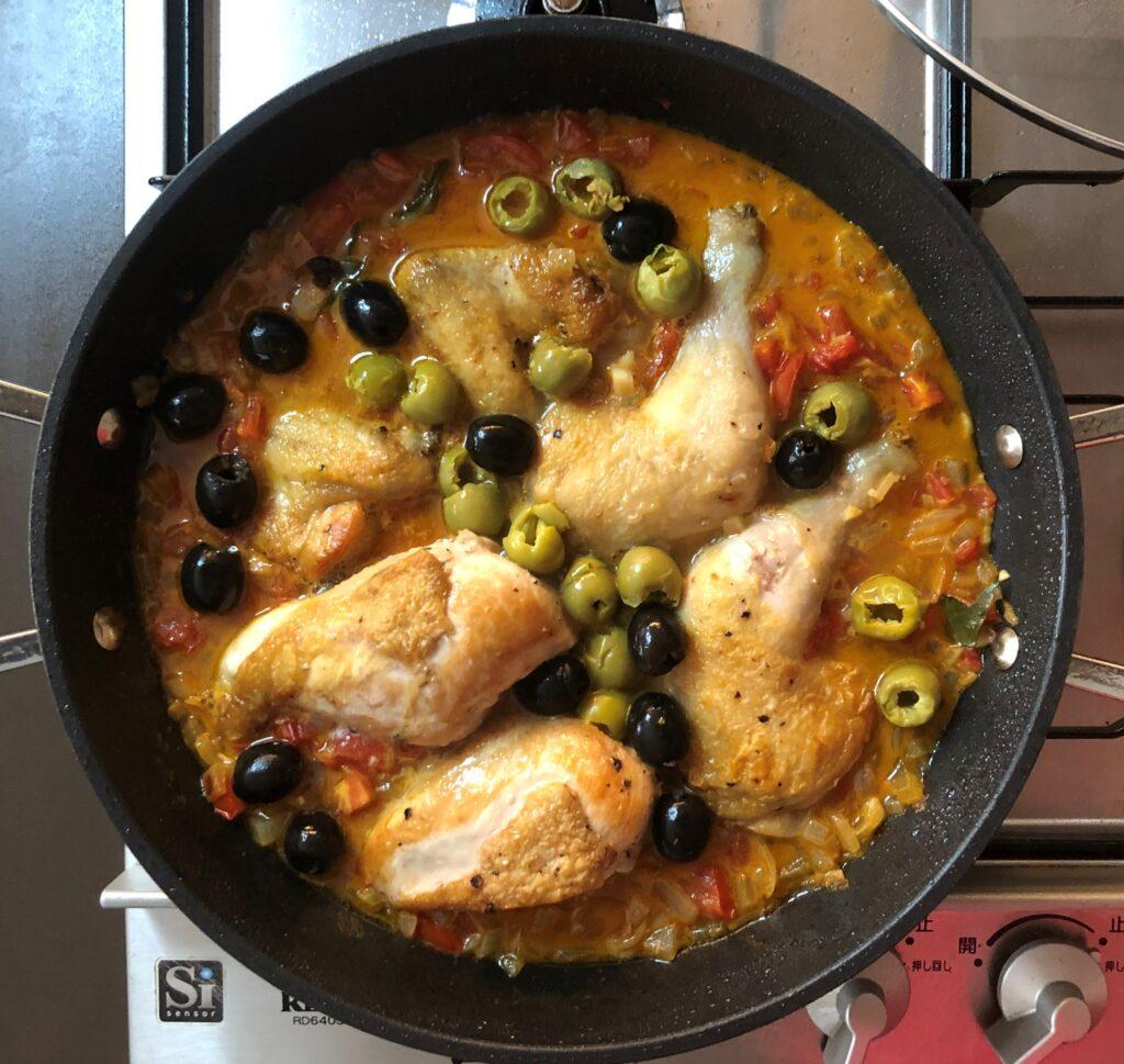 鶏肉のプロバンス風煮込み